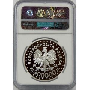 300000 zł 1993 Powstanie w Getcie Warszawski NGC PF69