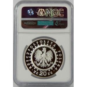20 złotych 1998 Zamek w Kórniku NGC PF69