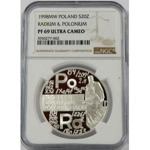 20 złotych 1998 Polon i Rad NGC PF69
