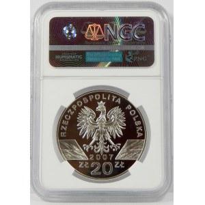 20 złotych 2007 Foka Szara NGC PF70