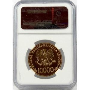 10000 zł 1988 X Lat Pontyfikatu NGC MS65