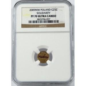 25 złotych 2009 Solidarność NGC PF70