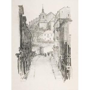 Feliks JABŁCZYŃSKI (1865-1928), Widok na kościół św. Anny od strony Mariensztatu, 1916