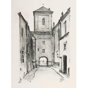 Feliks JABŁCZYŃSKI (1865-1928), Widok na dzwonnicę katedry Świętojańską, 1916