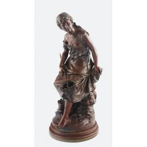 Auguste MOREAU (1834-1917), Dziewczyna łowiąca krewetki