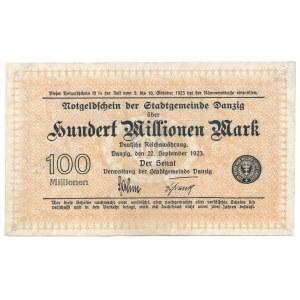 Gdańsk 100 milionów 1923 - rzadki