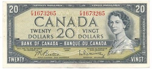 Kanada 20 dolarów 1954
