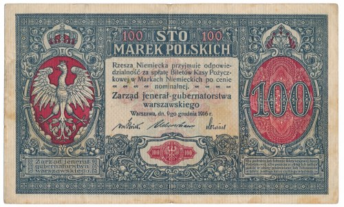 100 marek Jenerał 1916 - num.sześciocyfrowa