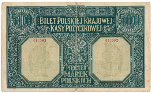 500 marek 1919 rok Dyrekcja - niezły