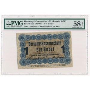 Poznań 1 rubel 1916 P3d długa klauzula nabywa