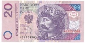 20 złotych 1994 -YB- seria zastępcza