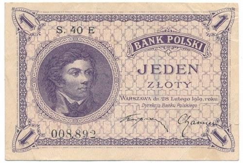 1 złoty 1919 S.40 E niezły