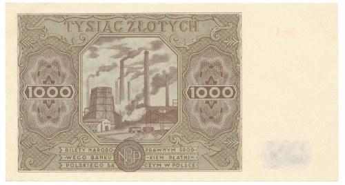 1000 złotych 1947 -Ł- piękny