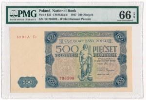 500 złotych 1947 -T2- PMG 66 EPQ