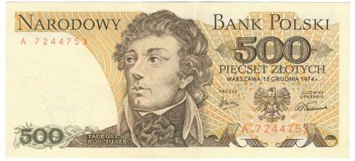 500 złotych 1974 -A- rzadka seria
