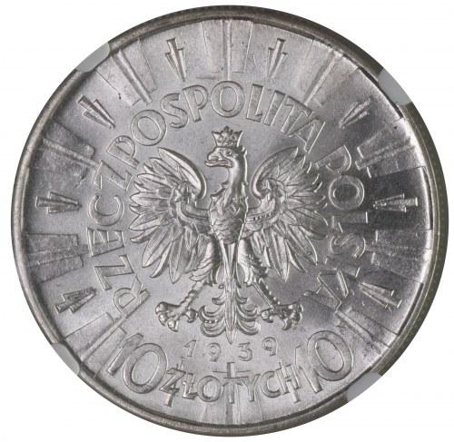 10 złotych 1939 NGC MS61