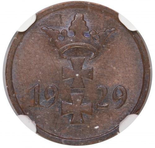 Wolne Miasto Gdańsk 1 fenig 1929 NGC MS62 BN