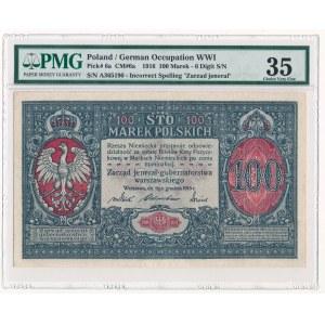 100 marek 1916 Jenerał - 6 cyfr PMG 35