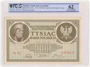 1000 marek 1919 Ser.ZO PCGS 62