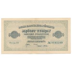 500 000 marek 1923 Serja BI 7 cyfr - b.rzadka odmiana