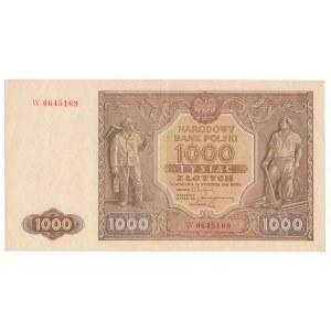 1000 złotych 1946 -W- rzadsza odmiana