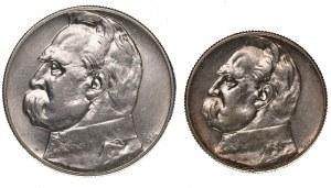 Zestaw 5+10 złotych z orłem strzleckim