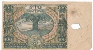 100 złotych 1932/34 - destrukt