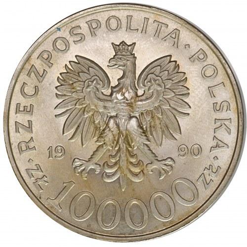 Solidarność 100.000 złotych 1990 TYP A