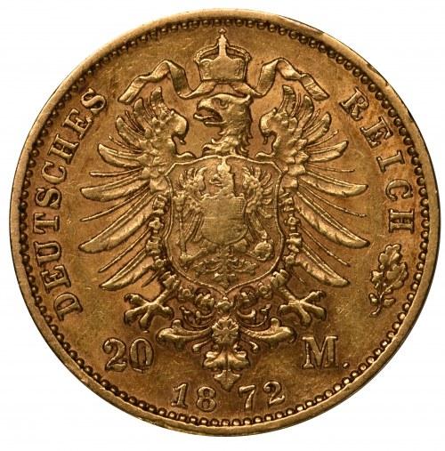 Niemcy - Prusy 20 marek 1872 A Berlin