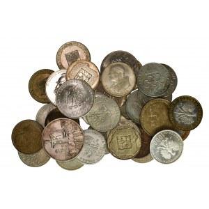 Zestaw srebrnych monet PRL - dużo menniczych stanów