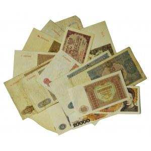 Zestaw banknotów PRL - wiele rzadkich odmian