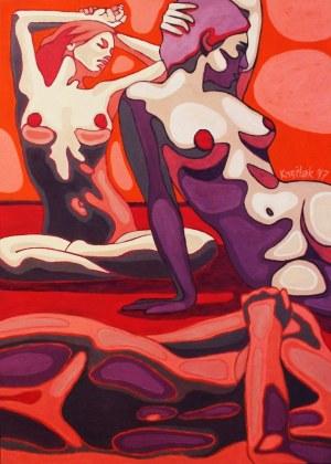 Robert Krężlak, The Red Women, 2017