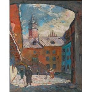 Franciszek TUREK (1882-1947), Podwórko na krakowskim Kazimierzu, 1931