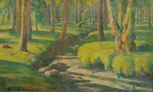 Eugeniusz URBAŃSKI DE NIECZUJA (1888-?), Pejzaż z leśnym strumykiem