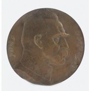 Jan Florian RASZKA (1871-1945), Medalion z portretem Marszałka Józefa Piłsudskiego