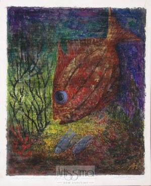 Aleksander Sołtan (1903–1994), Ryba I z cyklu Akwarium, 1968