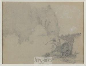 Wojciech Gerson (1831–1901), Pejzaż ze skałami, 1853