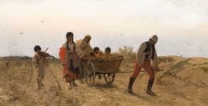 Franciszek Streitt, W drodze, 1877