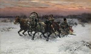 Wierusz-Kowalski Alfred, ŚCIGANI PRZEZ WILKI. WILKA POCZUŁY!, OK. 1885