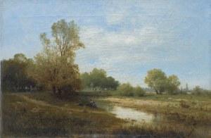 Sidorowicz Zygmunt, PEJZAŻ Z RZEKĄ, 1874