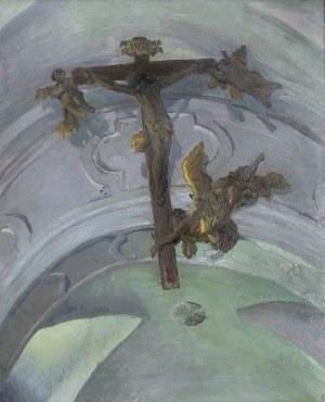 Ruszczyc Ferdynand, KRZYŻ POD SKLEPIENIEM KOŚCIOŁA W TYŃCU, 1908