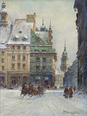 Chmieliński (Stachowicz) Władysław, STARE MIASTO W WARSZAWIE Z WIDOKIEM NA ZAMEK