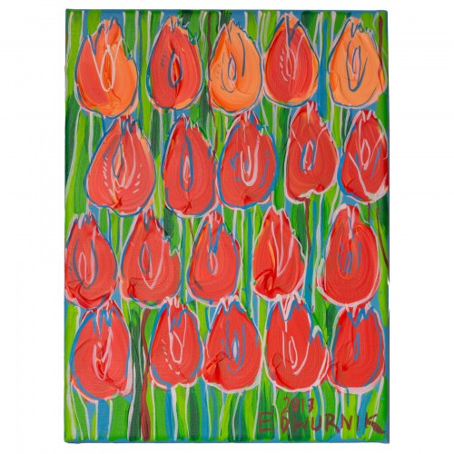 Edward Dwurnik (ur. 1943), Tulipany, 2017