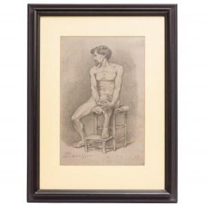 Józef Brandt (1841 – 1915), Studium siedzącego mężczyzny, 1863