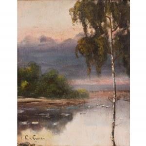 Gilbert von Canal (1849 – 1927), Pejzaż z brzozą