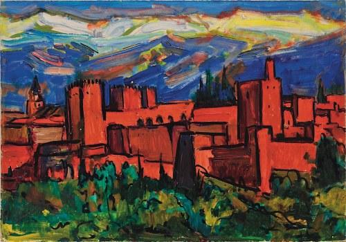 Mieczysław Lurczyński, Arabian town - Alhambra, 1960 -1980