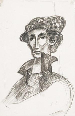 Stanisław ELESZKIEWICZ (1900-1963), Autoportret w berecie