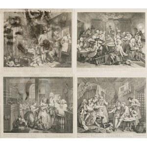 William HOGARTH (1697-1764), Zestaw 8 grafik