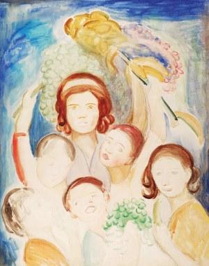 Emil KRCHA (1894-1972), Kompozycja figuralna,1925