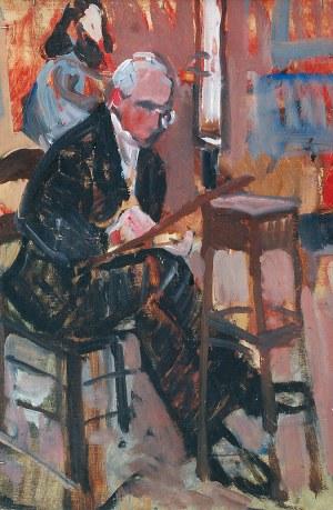 Zygmunt SCHRETER (1886-1977), Studium postaci - Kobieta na krześle